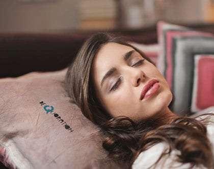Woman sleeping better in Sheffield