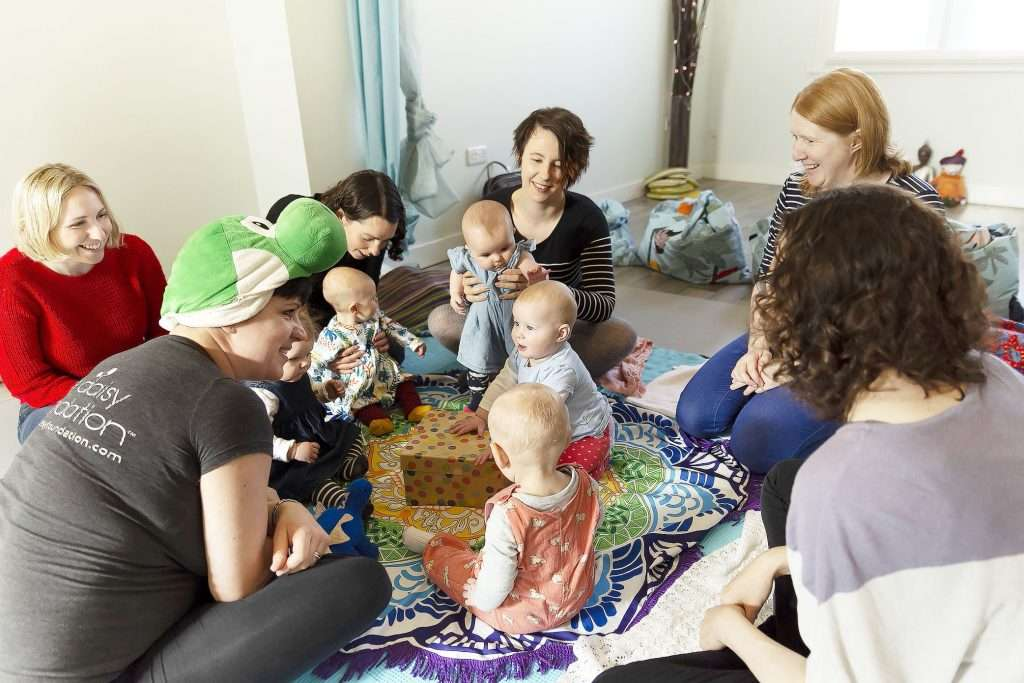 Daisy Wrigglers baby yoga with Fi Hennessy at the Sheffield Wellness Centre