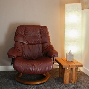 Stressless recliner in the Bandler Room