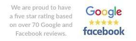 Read our 5* reviews on Google and Facebook