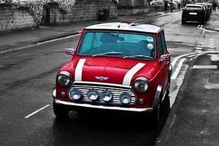 Red car on Abbeydale Road