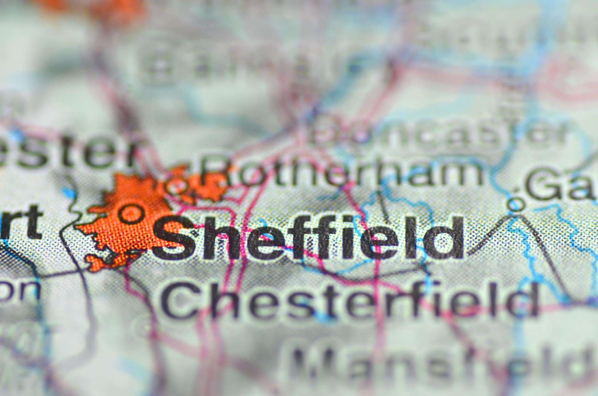 A map of Sheffield