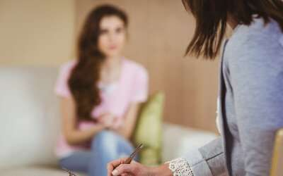 a woman getting counselling