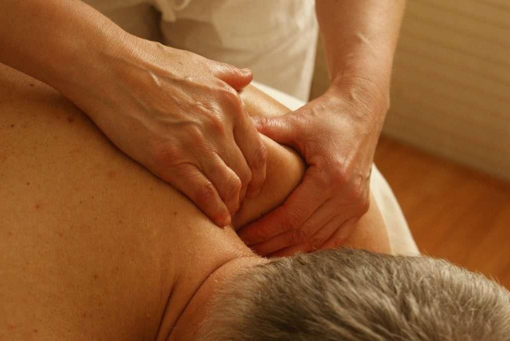 getting a soft tissue massage